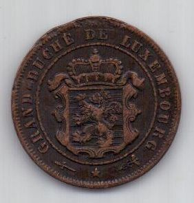 2 1/2 сантим 1901 г. Люксенбург