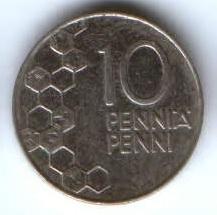 10 пенни 1994 г. Финляндия