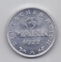 3 марки 1922 г. AUNC. Германия