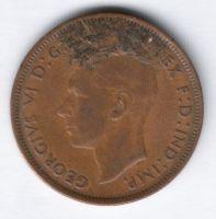 1 пенни 1944 г. Великобритания