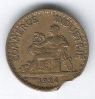 1 франк 1924 г. Франция