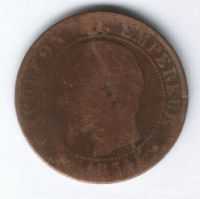 5 сантимов 1854 г. W Франция