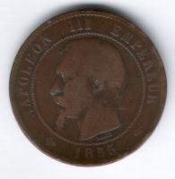 10 сантимов 1855 г. А Франция