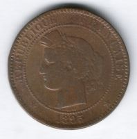10 сантимов 1895 г. редкий год Франция