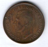 1 пенни 1950 г. Австралия