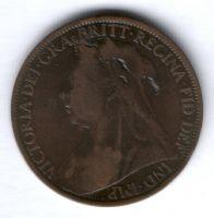 1 пенни 1901 г. Великобритания
