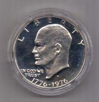 1 доллар 1976 г. UNC. США. серебро