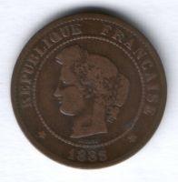 5 сантимов 1883 г. Франция