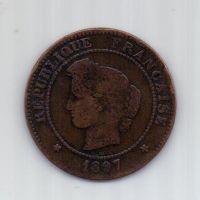 5 сантимов 1897 г. Франция