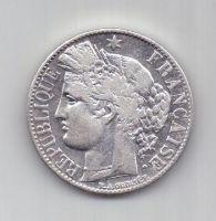 1 франк 1887 г. AUNC. редкий год. Франция