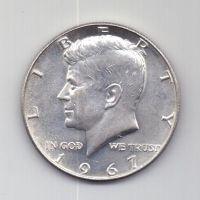 1/2 доллара 1967 г. AUNC. США