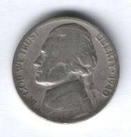 5 центов 1940 г. США