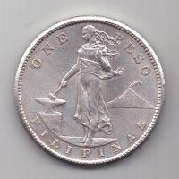 1 песо 1907 г. UNC Филиппины (США)