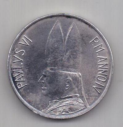 500 лир 1966 г. AUNC. Ватикан.