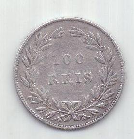 100 рейс 1877 г. редкий год. Португалия.