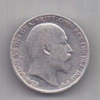 6 пенсов 1908 г. редкий год. Великобритания