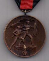 медаль 1938 г. Присоединение Судетской области к Германии.