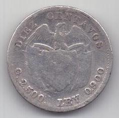 10 сентаво 1911 г. Колумбия