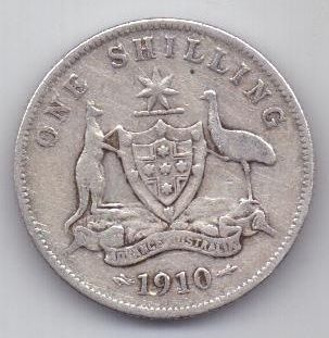 1 шиллинг 1910 г. Австралия (Великобритания)