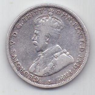 1 шиллинг 1920 г. Редкий год. Австралия . Великобритания