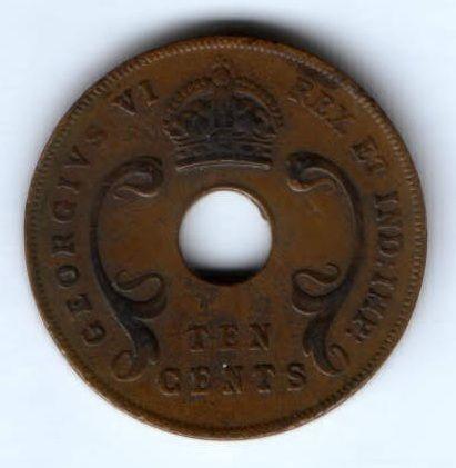 10 центов 1941 г. Восточная Африка