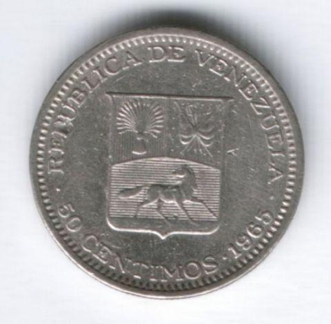 50 сентимо 1965 г. Венесуэла