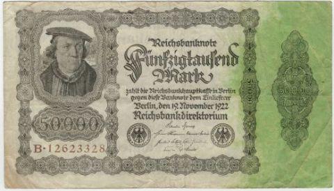 50000 марок 1922 г. Германия