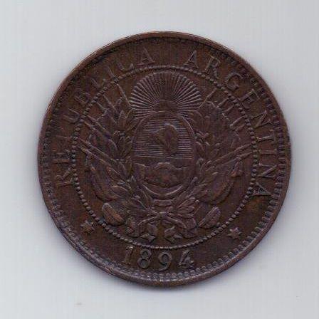2 сентаво 1894 г. AUNC. Аргентина