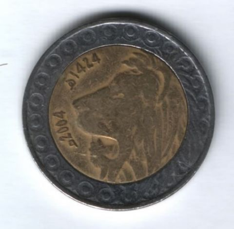 20 динаров 2004 г. Алжир