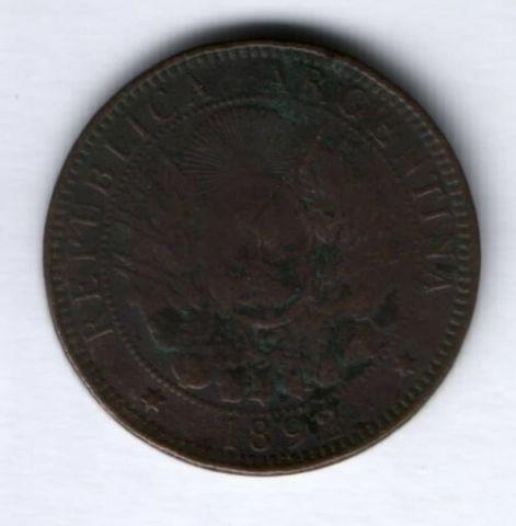 2 сентаво 1892 г. Аргентина