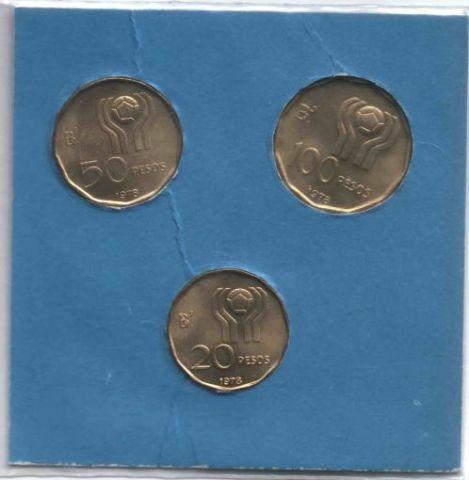 Набор монет 1978 г. Аргентина, Чемпионат мира по футболу