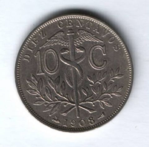 10 сентаво 1908 г. Боливия