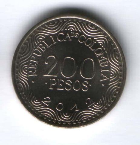 200 песо 2012 г. Колумбия