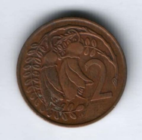 2 цента 1967 г. Новая Зеландия