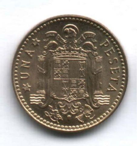 1 песета 1980 г. Испания UNC