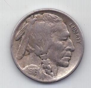 5 центов 1916 г. редкий год США