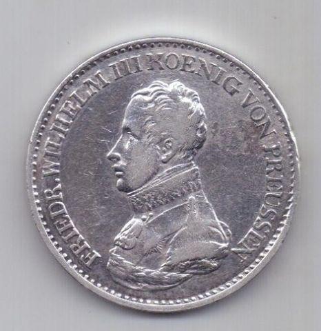 1 талер 1818 г. XF Пруссия